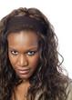 visage de jeune fille de type africain