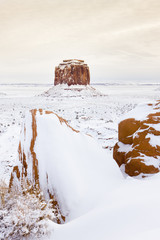 wintr Merrick Butte, Monument Valley National Park, Utah-Arizona