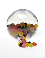 Multicolored Sweets in Glass Bottle 03