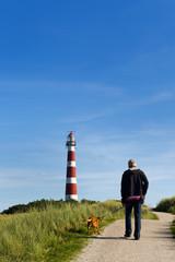 Walking near the lighthouse