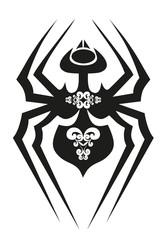 black tattoo - spider