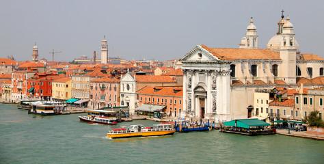 Venice with church Santa Maria del Rosario