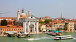 Venice from the sea with church Santa Maria del Rosario