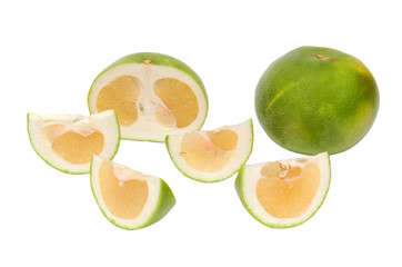 Oroblanco sweetie fruit,  hybrid of pomelo and white grapefruit