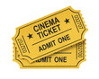 Cinema ticket on white background - 28027846
