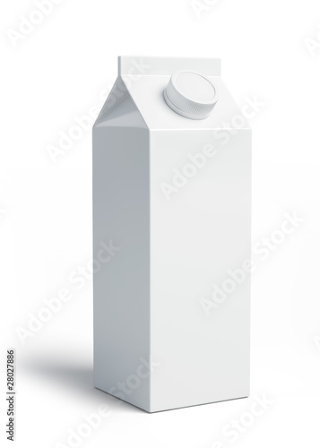 White blank milk box