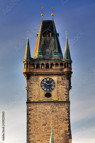 Famous City Hall in Prague
