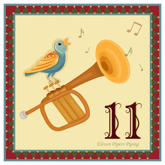 The 12 Days of Christmas - Eleven Pipers Piping