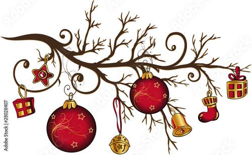 weihnachten zweig ast nikolaus christmas vector von. Black Bedroom Furniture Sets. Home Design Ideas