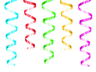 Colorful hanging party streamers