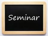 Seminar - Konzept Schild poster