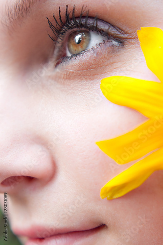 Yellow Flower Girl