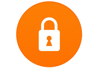 sécurité informatique - cadenas - orange