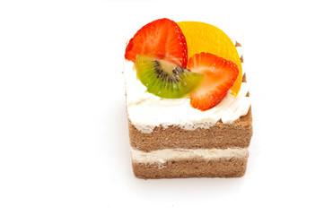 piece of cake isolated on white background