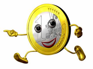 EURO Figur rennt