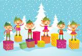 Merry Christmas Elves poster