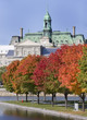 City Hall of Montreal in autumn