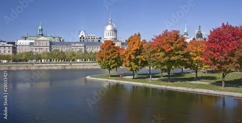 Old Montreal and Bonsecours Basin in autumn