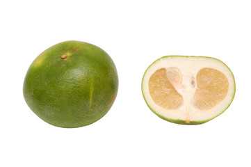 Oroblanco sweetie fruit - hybrid of pomelo and  grapefruit