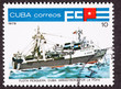 Canceled Cuba Postage Stamp Tuna Boat Stern View Trawler