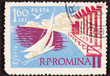 Canceled Postage Stamp Sailboat Sailing Eforie Romania Black Sea