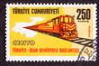 Turkish Stamp Regional Cooperation Turkey Iran Railroad Link