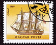 Canceled Postage Stamp Jylland Steam and Sail Danish Warship