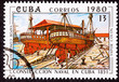 Cuba Postage Stamp Vapor Colon Construction in Cuban Dry-dock