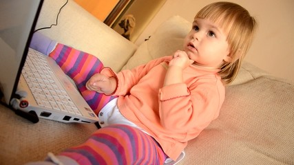 baby with notebook