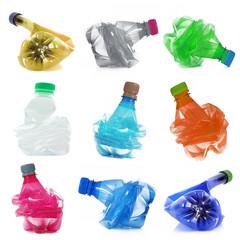 bottiglie di plastica collage