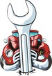 car witn wrench