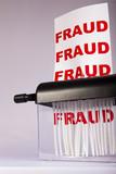 Shredding fraud. poster