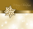 Golden  Christmas abstract background - card
