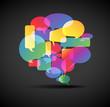 Big speech bubble - icon for social media