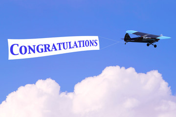 Congratulations airplane banner