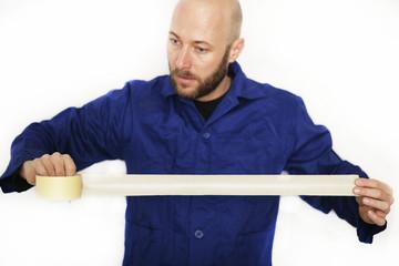Maler mit Klebeband