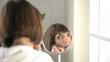 Beautiful woman applying make-up; HD 720, H 264