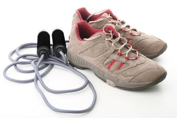 chaussure et corde à sauter