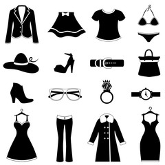 fashion icon set (black version)