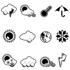 weather icon set (black version)