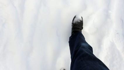 Schritte im Schnee