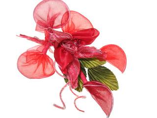 Bomboniere Fiore rosso laurea Cresima portaconfetti in organza