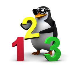 You can count on 3d penguin