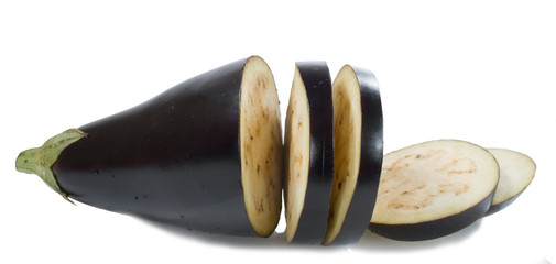 black aubergine with rings isolated on the white background