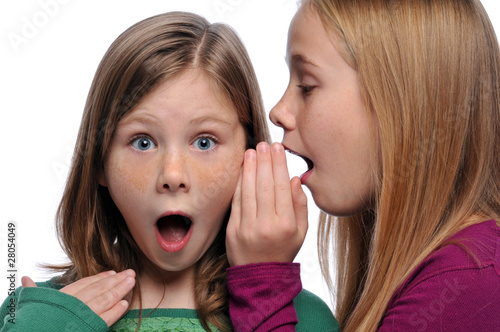 Two girls sharing a gossip