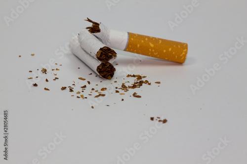 zerbrochene Zigarette