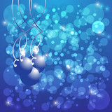 Abstract background and Christmas balls