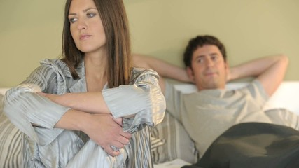 Woman sitting upset, man gets up disappointed; HD 720, H 264