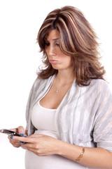 pregnant phone pouty