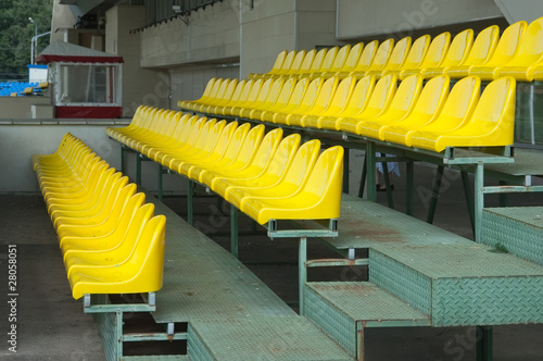 Colour plastic armchairs